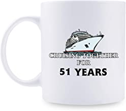 51st Anniversary Gifts - 51st Wedding Anniversary Gifts for Couple, 51 Year Anniversary Gifts 11oz Funny Coffee Mug for Couples, Husband, Hubby, Wife, Wifey, Her, Him, cruising together
