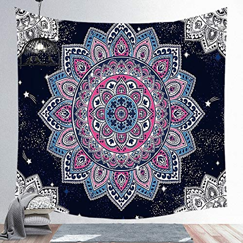 N / A Mandala Tapestry Wall Hnaging Boho Decor Japanese Hippie Sun Moon Farmhouse Carpets Dorm Decor A5 130X150CM
