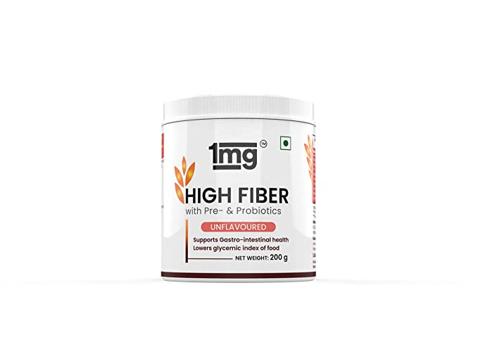1mg High Fiber Pre- & Probiotics Unflavoured with Resistant Maltodextrin, Inulin and Guar Gum
