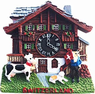 Cuckoo-Clock Switzerland 3D Fridge Magnet Tourist Souvenir Gift Collection Home & Kitchen Decoration Magnetic Sticker Switzerland Refrigerator Magnet