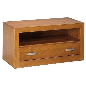 Dogar Kynus - Mesa de tv, 50 x 100 x 50 cm, madera, color cerezo: Amazon.es: Electrónica