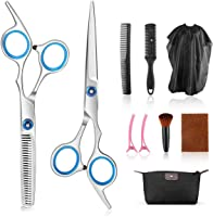 AGPTEK 10 PCS Hair Cutting Scissor Set Professional Hairdressing Scissors Kit with Hair Cutting Scissors Thinning...