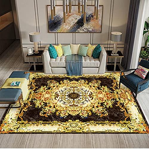 NF Alfombra grande vintage para sala de estar, dormitorio, alfombra antideslizante, lavable, étnica retro, alfombra tradicional de estudio, 200 x 300 cm