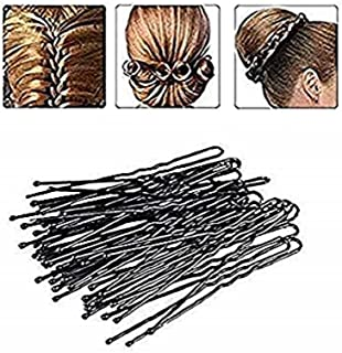 DNHCLL 100PCS Black Metal U-Shape Bobby Pins Curved Bun Hair Clip,Special Hair Pin Of The Studio for Girls Women and Hairdressing Salon,Is Used To Add Coarse Fixed Tool
