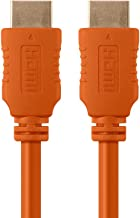 1.5FT 28AWG High Speed HDMI Cable w/Ferrite Cores - Orange