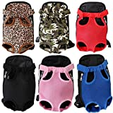 Emily Pets Adjustable Puppy Cat Pet Carrier Backpack Travel Bag Legs Out Easy-Fit
