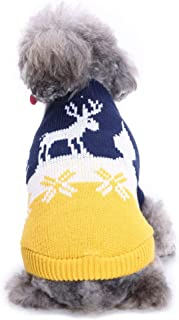SENERY Christmas Pet Winter Warm Deer Sweater Cat Coat Costume for Small Medium Dogs Chihuahua French Bulldog