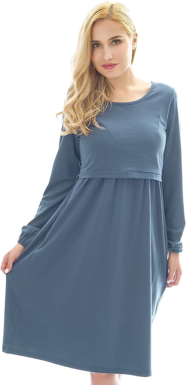 Bearsland Fashion Women's Maternity Long Soft Max 77% OFF Nursing Breastfeedi Sleeve