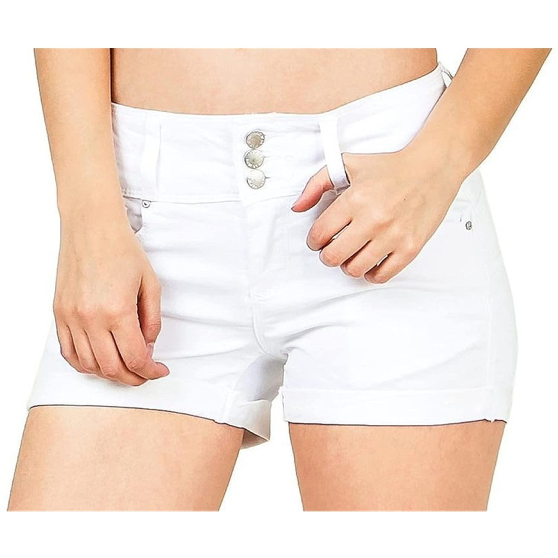 Women's Rolled Cuff Denim Shorts Portland Mall Mid Leisure Ladies Max 60% OFF Stretch Rise