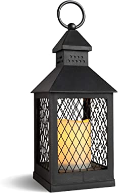 DRomance Decorative Candle Lantern with 6 Hour Timer Battery Operated Flameless Flickering Candles, 3-Way Switch Heat Resista