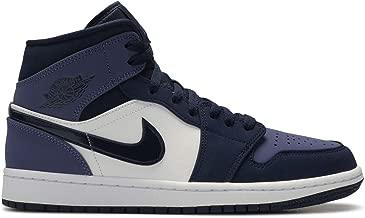 Jordan Nike Men's Air 1 MID Obsidian Sanded Purple 554724-445