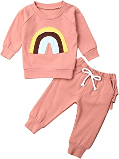 Newborn Baby Girls Boys Clothes Cotton Suit Cute Baby Kid Infant Romper Play Wear Summer Sunsuit Rainbow Outifts