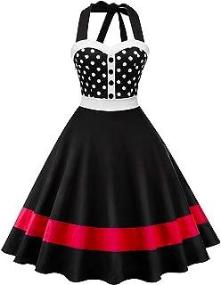 9e26b3cd357 Robe de Soirée Femme Chic Jointif à l impression Vintage rétro année 50s  pin-
