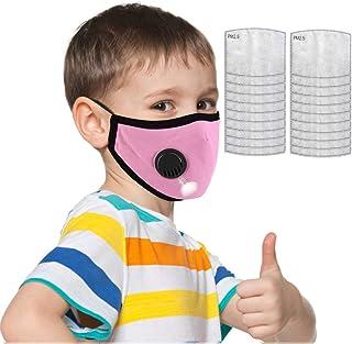 ??????????? Algodon Reutilizables con 20 Filtros para niños, Tela Lavable de Algodón Suave y semicara, Lavable