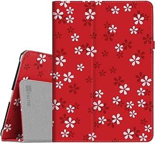 Fintie iPad 9.7 2018/2017, iPad Air 2, iPad Air Case - [Corner Protection] Premium Vegan Leather Folio Stand Cover, Auto Wake/Sleep for iPad 6th / 5th Gen, iPad Air 1/2 (ZA-Floral Red)