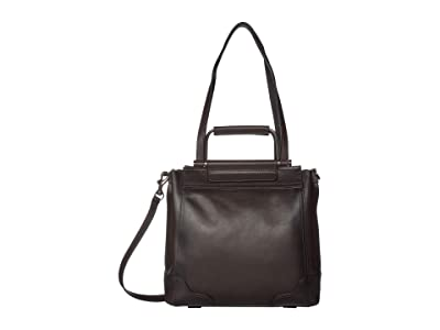Frye Charlie Multi Handle Tote (Dark Brown) Handbags