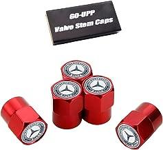 GO-UPP 5PCS Metal Tire Valve Stem Air Caps Cover for Mercedes Benz C E S M CLS CLK GLK GL A B AMG GLS GLE Logo Car Styling Decoration Accessories for Mercedes-Benz