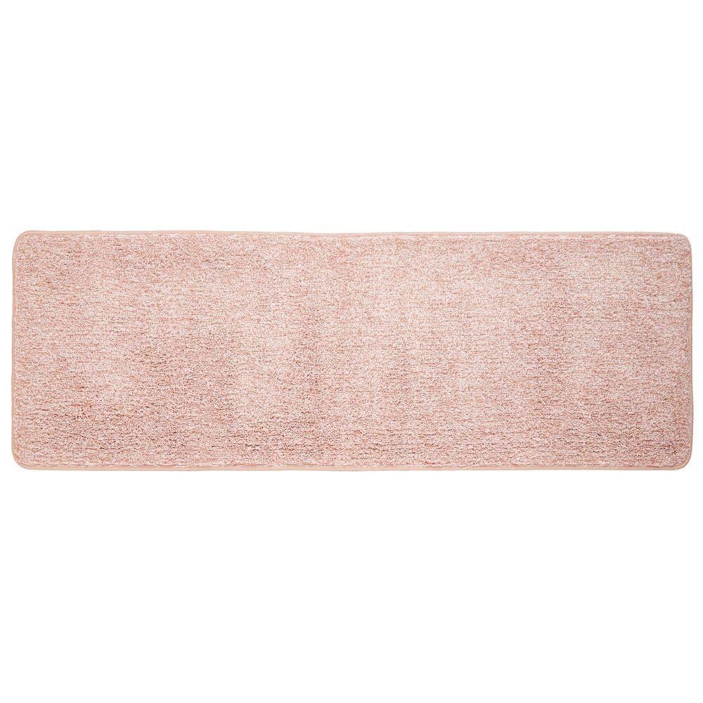 19/× 31 inch qwertypy Bath Mat Microfiber Bath Rug for Bathroom Non-Slip Soft Drying Pink