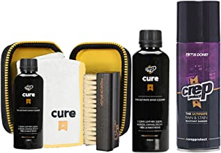 Crep Protect Cure Travel Kit, Cure Shoe Cleaner + Shoe Spray (Pk) with Free Gift Box
