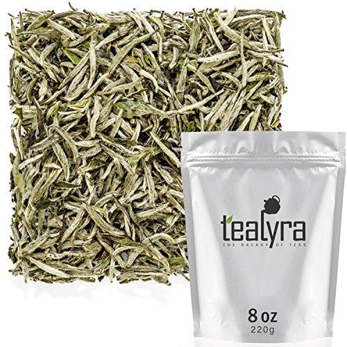 Tealyra - Premium White Silver Needle Tea - Bai Hao Yinzhen - Organically Grown in Fujian China - Superior Chinese Silver Tip White Tea - Loose Leaf Tea - Caffeine Level Low - 220g (8-ounce)