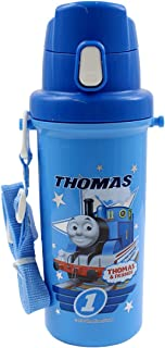 Thomas the Tank Engine Bottle with Push-Button Cover and Carrying Strap (Japan Import)