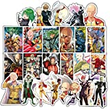 ONE Punch-Man Anime Cartoon Laptop Stickers Waterproof Skateboard Pad MacBook Car Snowboard Bicycle Luggage Decor (38pcs)
