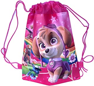 Pink Everest Skye Party Bags for Kids Girls Paw Petrol Drawstring Bag Gift Party Favors 6 Pack
