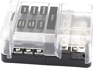 Gazechimp Blade Fuse Block Box Holder 12 Way W/LED Indicator for Blown Fuse