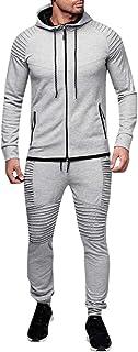 Completo da Allenamento da Competizione Felpa con Cappuccio Invernale Top Pantaloni Imposta Tuta Sportiva Tuta