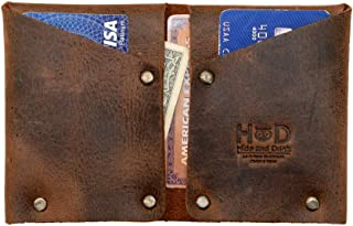 Hide & Drink, Leather Riveted Card Holder, Holds Up to 8 Cards Plus Folded Bills / Rustic / Wallet / Accessories / Money O...