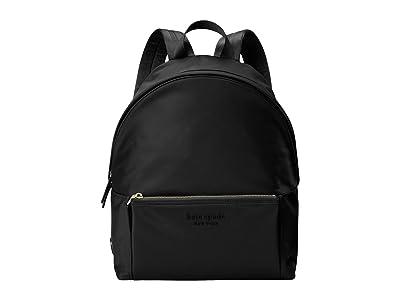 Kate Spade New York The Nylon City Pack Large Backpack (Black) Backpack Bags