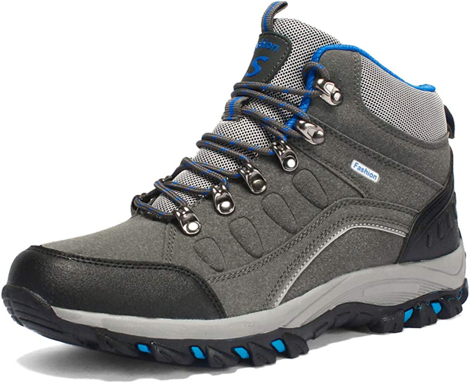 COSDN Womens Mens Outdoor High-Top Lacing Up Trekking shoes Waterproof Resistant Hiking(Fur Lined) Boots