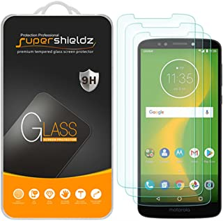 (3 Pack) Supershieldz for Motorola (Moto E5 Supra) Tempered Glass Screen Protector, Anti Scratch, Bubble Free
