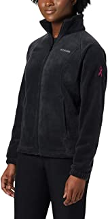Columbia Women's Tested Tough in Pink Benton Springs Full Zip Jacket, Black, Small