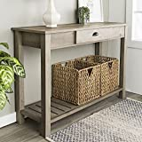 New 48 Inch Wide Country Style Sofa Table in Gray Wash Finish...