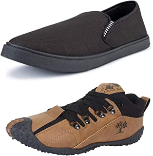 Earton Combo Pack of 2 Multicolored Sneakers Shoes for Men's