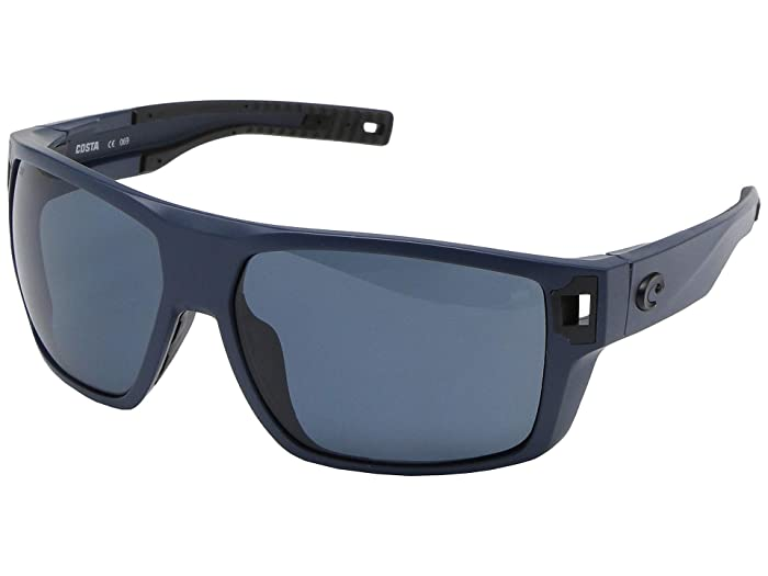 Costa  Diego (Matte Midnight Blue Frame/Gray Lens 580P) Fashion Sunglasses