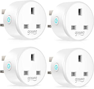 Smart Plug Gosund WiFi Outlet Works with Alexa Google Assistant, WiFi Plug Socket with Remote Control, Timer Function, Ene...