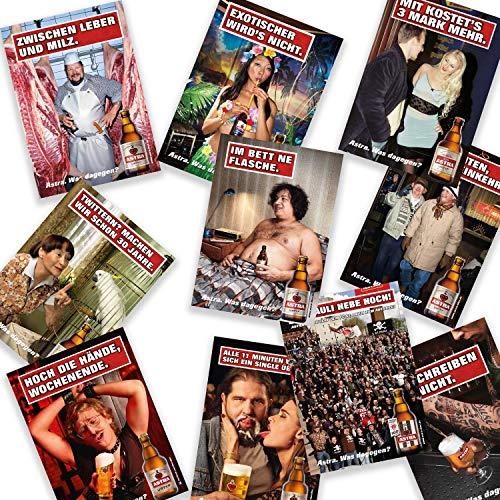 Astra Postkarten-Set Edition 4 - Set aus 10 verschiedenen Plakatmotiven, Geschenkidee aus St. Pauli