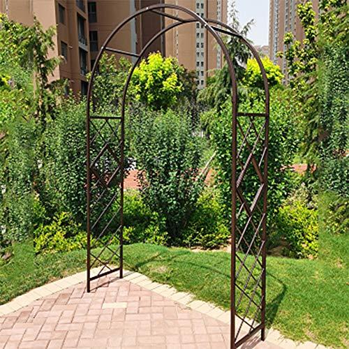 Flashing lights Porta per Ingresso All'aperto in Ferro Battuto con Supporto Ornamentale per Crescita del Giardino Pergolato di Piante Rampicanti per Matrimoni