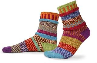 Solmate Socks - Mismatched Crew Socks; Made in USA; Cosmos Medium
