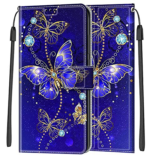 LEMORRY Funda para Samsung Galaxy A5 2017, Carcasa Galaxy A5 2017 con Tapa, Magnético Soporte Plegable, Ranuras para Tarjetas, Suave Silicona Estuches Tapa Samsung A5 2017, Design 5