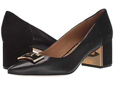 Tory Burch 55 mm Gigi Pointy Toe Pump (Perfect Black/Perfect Black) Women
