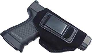 Tactical Scorpion Gear Universal IWB Suede Leather Holster: Fits Springfield XDS & XD, Glock 19 21 19X 43, S&W M&P Plus All Other Such Weapons