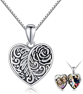 Lockets for Women That Hold Pictures 925 Sterling Silver...