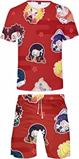Kimetsu no Yaiba 3D Stampato Activewear Set Anime DS Estate Manica Corta T-shirt e Pantaloncini Manga Tanjirou Agatsuma De...