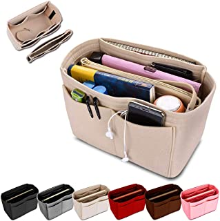 KINGDOO Felt Purse Organizer Insert Bag Organizer Handbag Tote Bag in Bag Fits for Speedy, Neverfull, Longchamp
