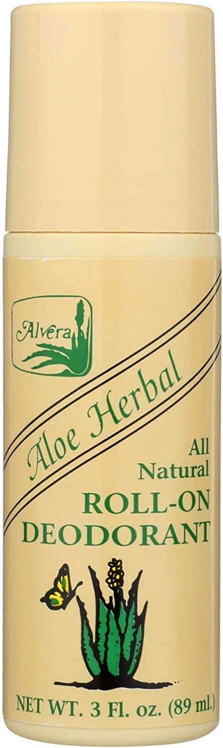 Alvera Max 65% OFF Aloe Herbal All Natural Roll-On 3 Deodorant oz New product type - fl