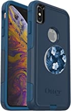 Bundle: OtterBox Commuter Series Case for iPhone Xs Max – (Blue) + PopSockets PopGrip – (Blue Island)