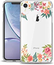 MURMAZ Floral Series for iPhone XR case [6.1 inch] (2018 Release), Flower Summer Tropical Cute Design for Girls Woman [Hard PC Back + Soft Bumper] Slim Shockproof Clear Protective Cover
